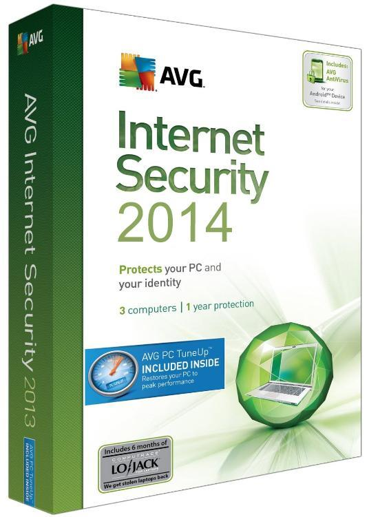 AVG Internet Security 2015 (4 Years - 3Pcs) (NEW VERSION!)