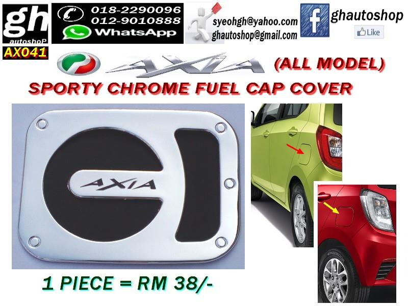 AXIA SPORTY CHROME FUEL CAP COVER AX041