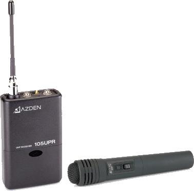 AZDEN 105HT UHF handheld wireless system