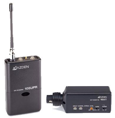 AZDEN 105XT UHF plug-in wireless system