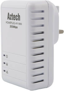 AZTECH 200MBPS WIRED MINI HOMEPLUG (HL113E)