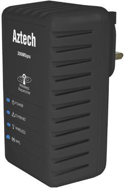 AZTECH WIFI N 300MBPS WIRELESS EXTENDER / REPEATER (WL556E)