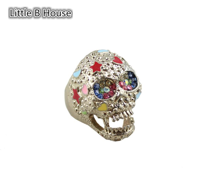 [Little B House] Multicolour Retro Skeleton Alloy Ring 1.7cm - R09