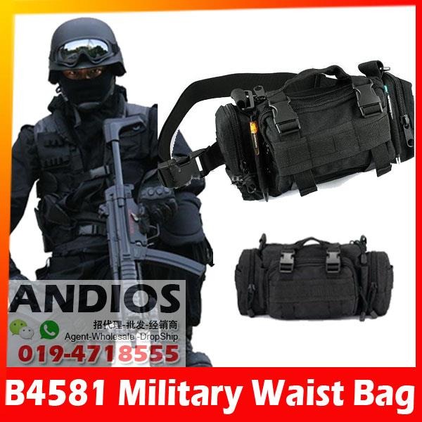 B4581-Military Tactical Shoulder Waist Pouch Sling Bag Army Crossbody