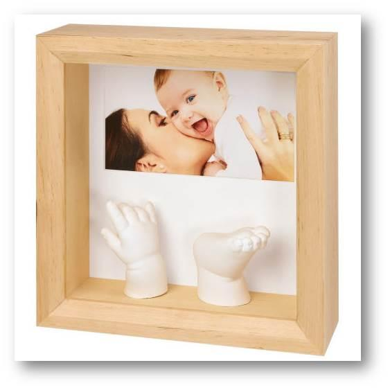 Baby Art Photo Sculpture Frame - Natural