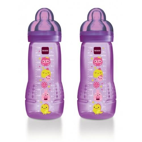 Baby Bottle 330ml Double Pack - Purple