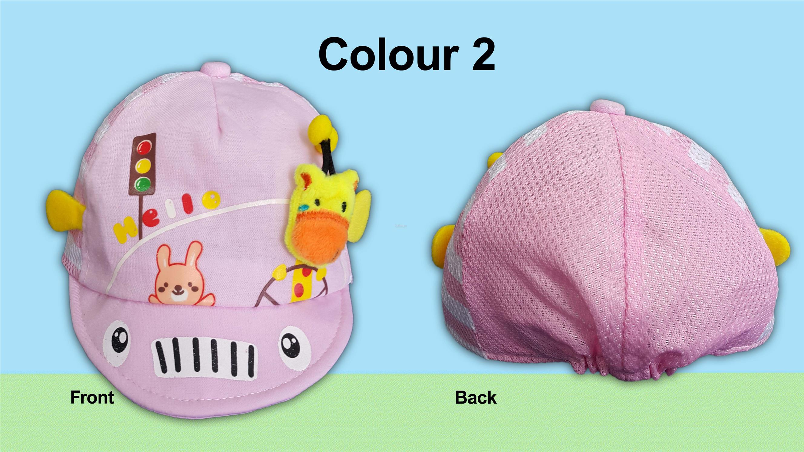 Baby Caps with Colourful Cute Motifs and Embroiderys