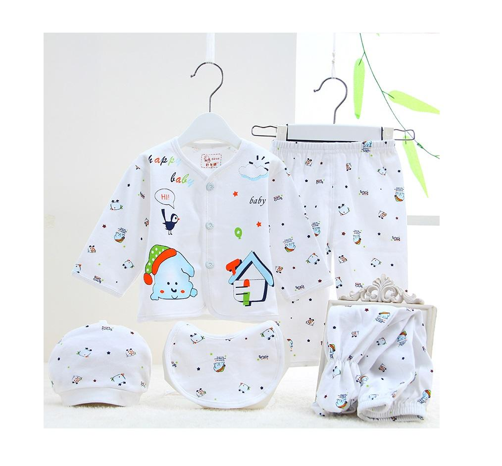 Baby Clothes 5pcs Set (Blue)