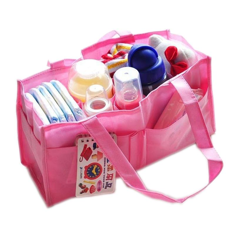 Baby Infant Mummy Mother Travel Organizer Bag (Pink)