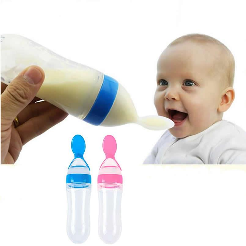Baby Infant Squeeze Spoon Food Feeder