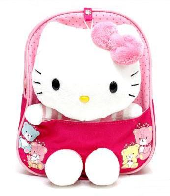 Baby/Kid Safety Harness Backpack - Little Kitty (Light Red)