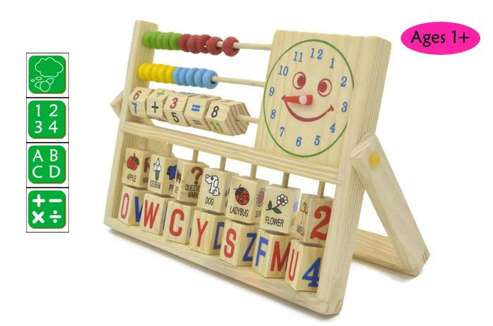 Baby Kids Child Wooden Toy Multipurpose Calculation Frame Education