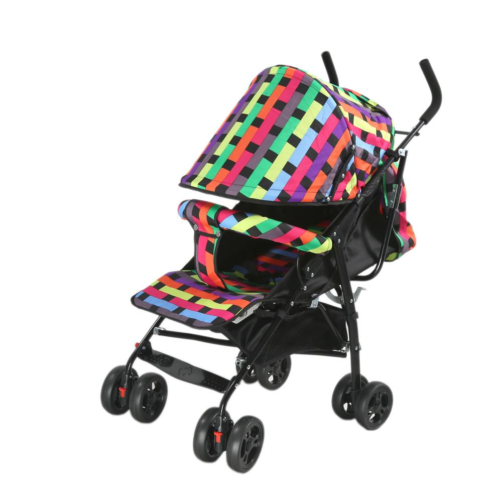 Baby Kids Children Stroller Car With Sit and Lay Function- Multicolor