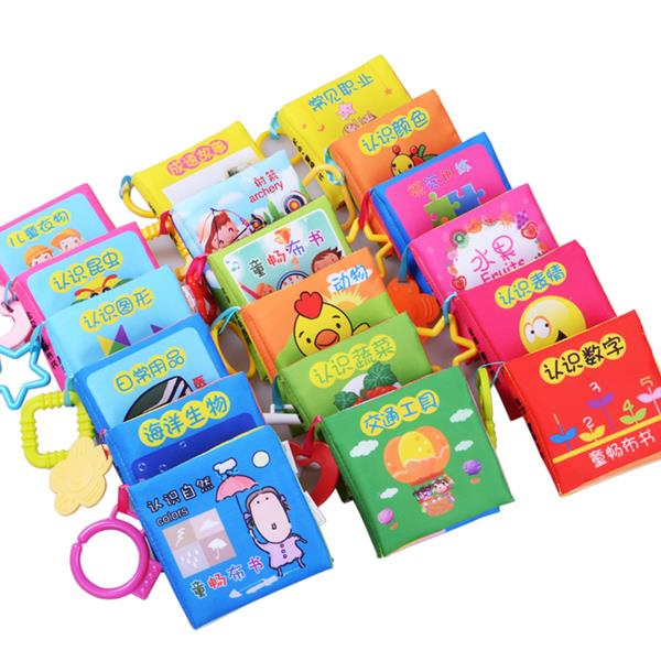 Baby Kids Mini Cloth Book Early Educational Learning Toy