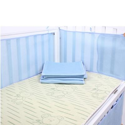 Baby Newborn Bedroom Bed Mesh Crib Bumper Sleeping Protection-Beige