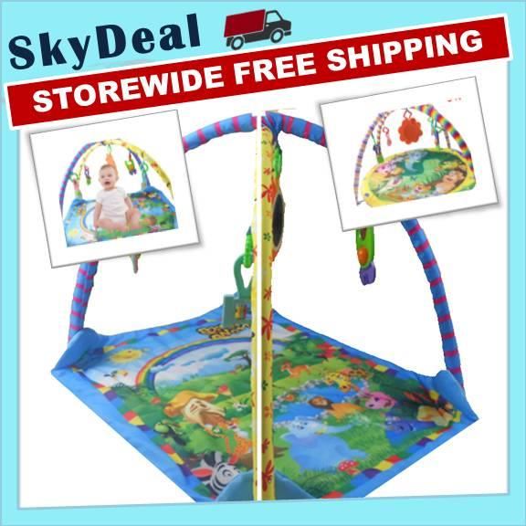 Baby Play Mat Rainbow, Jungle Animal Soft Play Activity