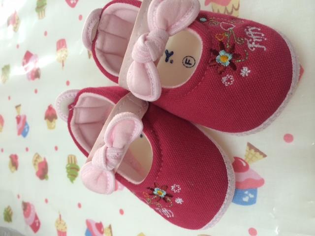 Baby Pre-walker Shoe (Ribbon Pink)