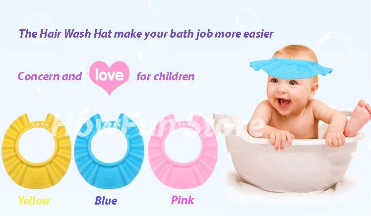 baby 39 s hair wash hat shampoo shower cap good quality low price