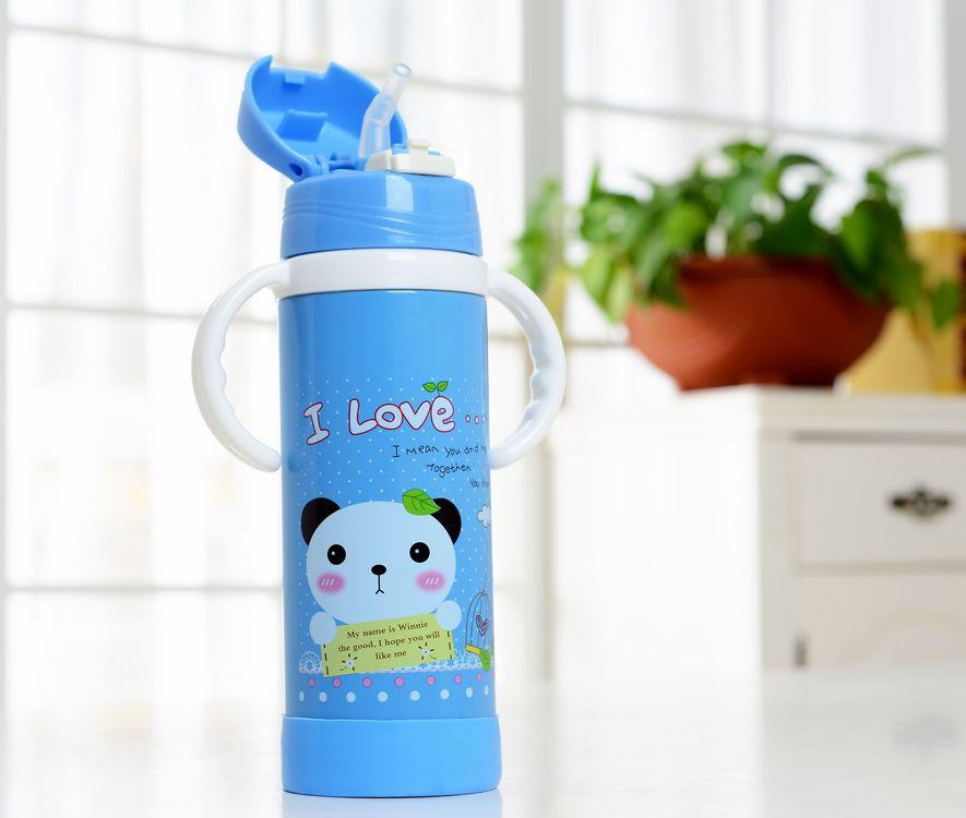 Baby Stainless Steel Thermal Bottle 420ml (Blue)