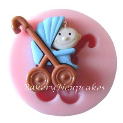 Baby in Stroller Fondant Silicone Mould