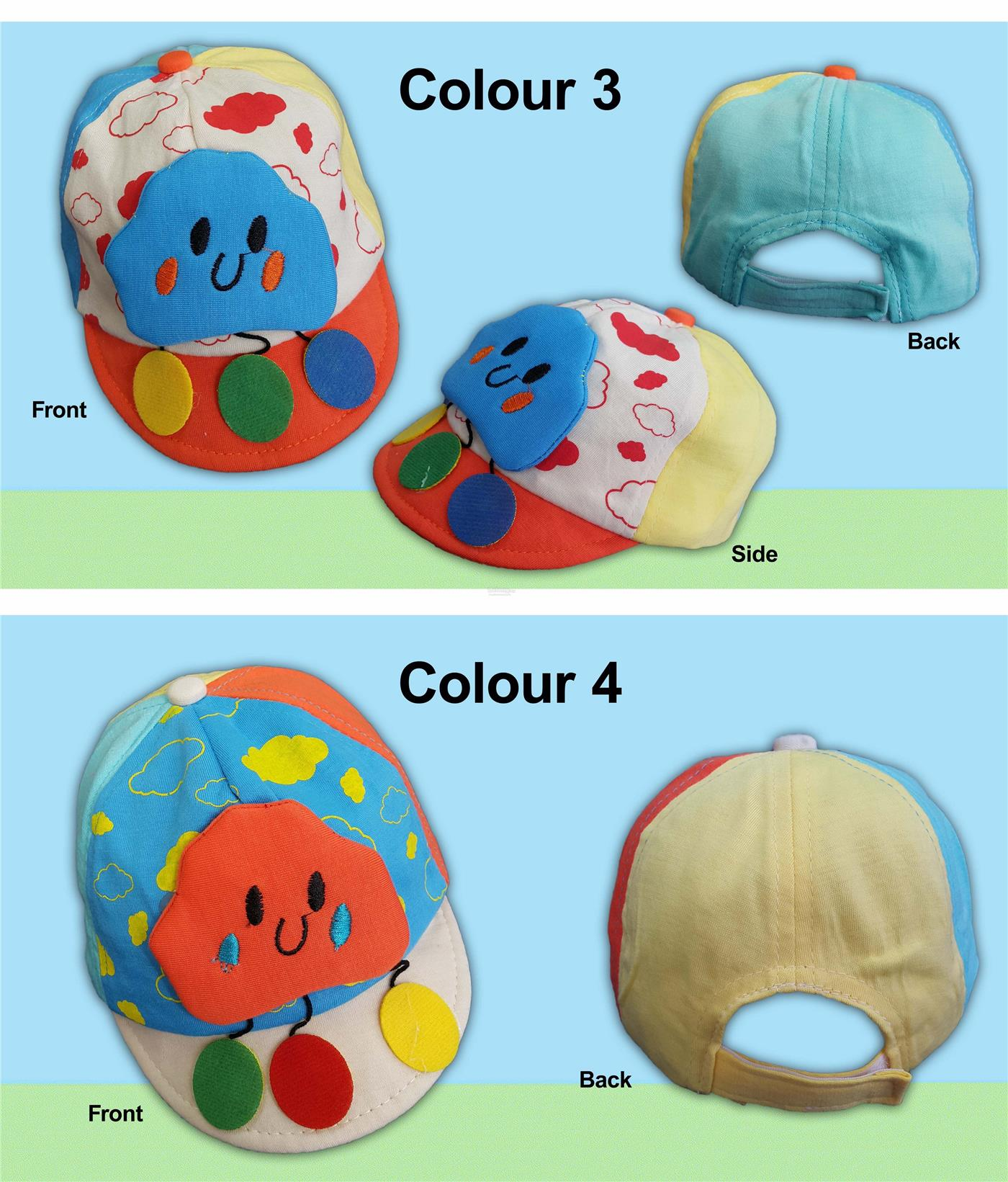 Baby Toddlers Cap with adorable Printings and Appliques