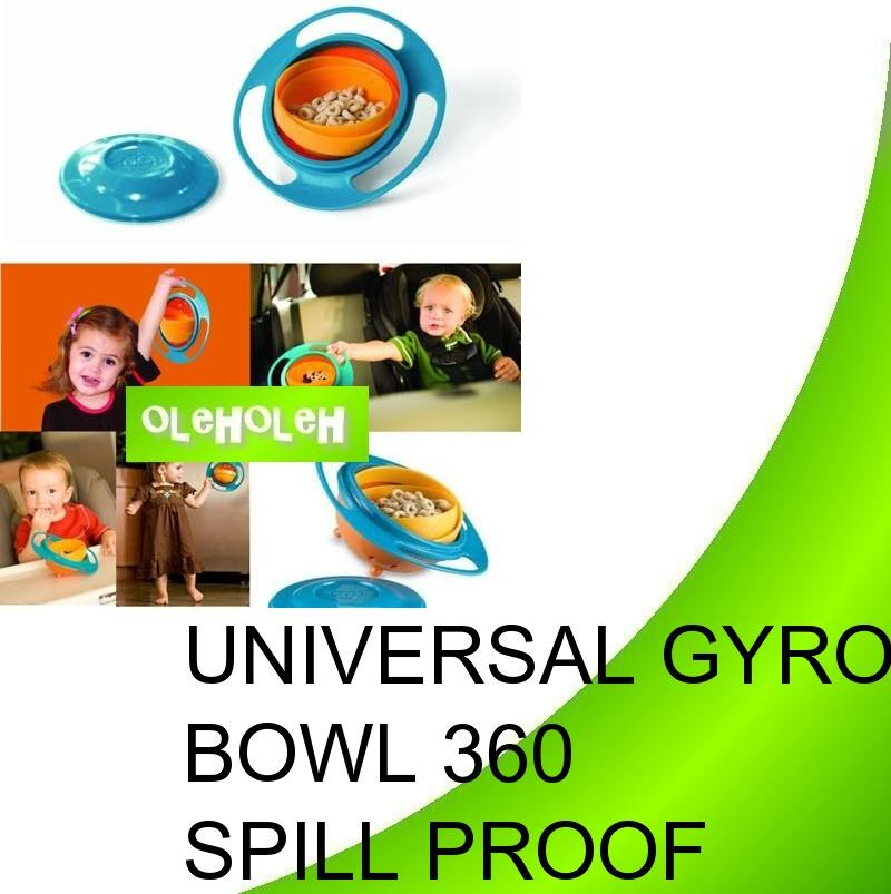 Baby Universal Gyro Bowl Spill Proof Kid Baby Toys 360 Degrees Spill