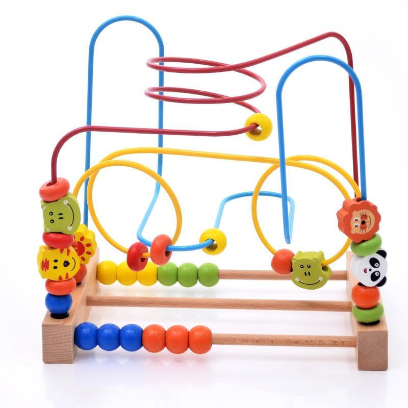 Baby Wooden Beads Animal Giant Track Maze Toy