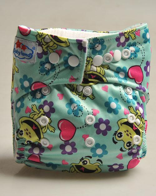 Babyland cloth diaper -Froggie button