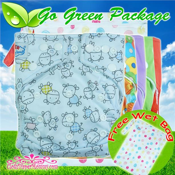 Babyland Go Green Cloth Diaper Package