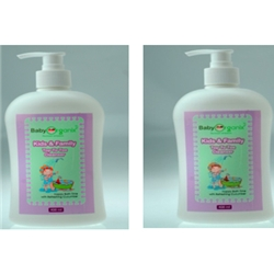 BabyOrganix Kids and Family Cucumber Top To Toe Cleanser 400ml - BO13-13 (Twin