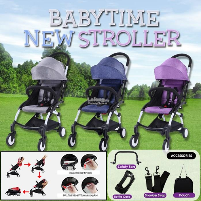 BABYTIME NEW STROLLER (Free Accessories)
