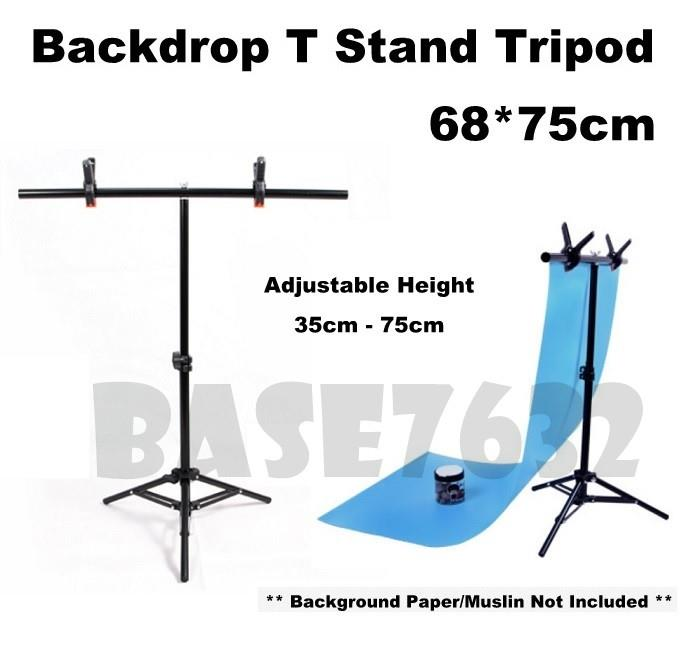 Backdrop Background Studio Shooting T Stand Kit 68*75cm Free Clip
