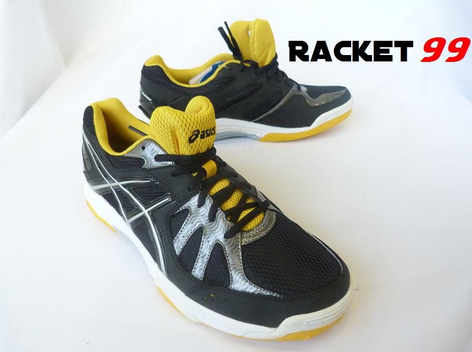 Badminton Shoe- Asics-Gel-Cyber Zorro P124Y 9093 (BlackLightingYellow)