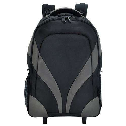 Bagman S02-068CON-01 Rolling Laptop Backpack - Black/Orange