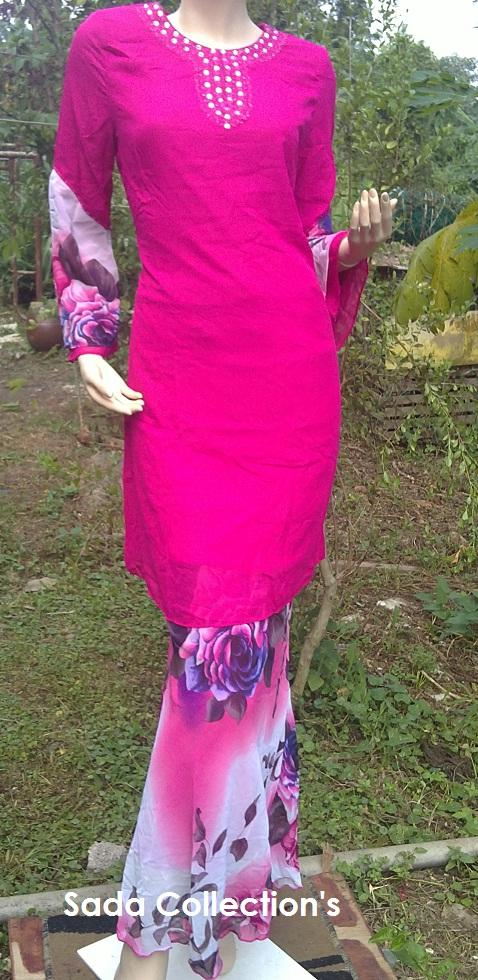 Baju Kurung Raya **English Rose Pink - FREE POSTAGE