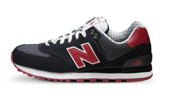 New Balance 574 Original Casual/Running Shoes Black Red