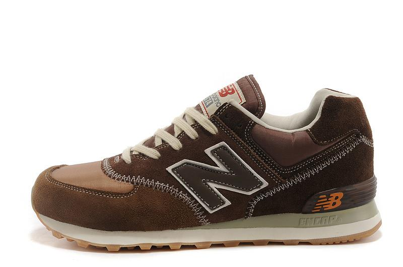NEW BALANCE 574 SUEDE MEN BROWN BEIGE