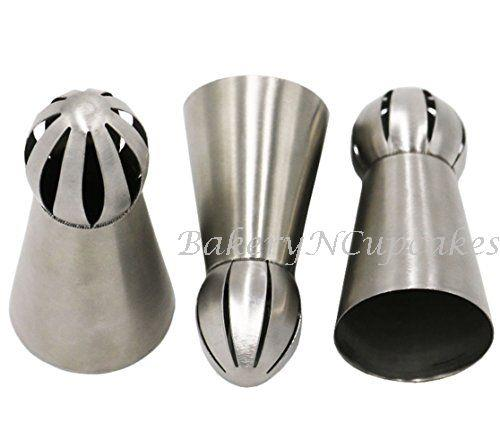 Ball Shape Russian Icing Piping Nozzle Tips (3pcs/set)