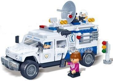 Banbao 8343 Pull-Back Police Car (LEGO like bricks)