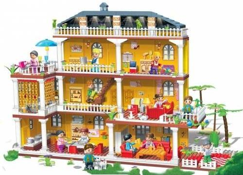 Banbao- My Family (LEGO Compatible Brick, Educational Toys)
