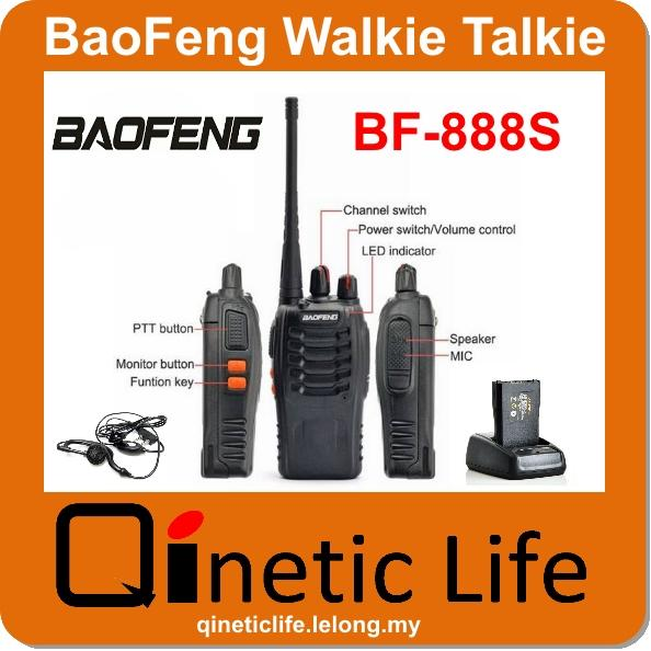 BaoFeng BF-888S Walkie Talkie UHF + Free Earphone