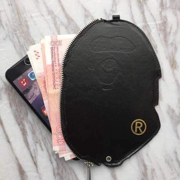 Bape Big Ape Head Faux Leather Wallet Porch