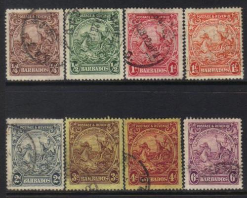 BARBADOS 1925-1935 DEFINITIVES USED CAT £6+ BJ161