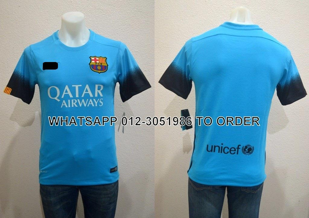 Barcelona FC Third 3rd 2015/2016 Player Issue Jersey/Jersi