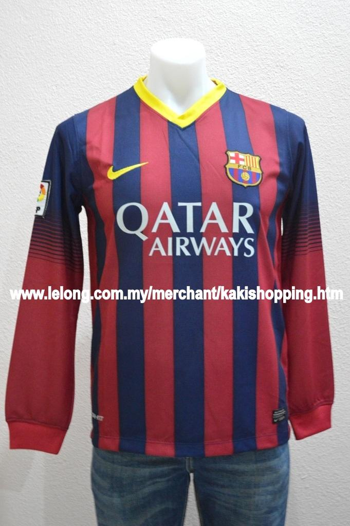 Barcelona Black Jersey Long Sleeve Long Sleeve Jersey/jersi