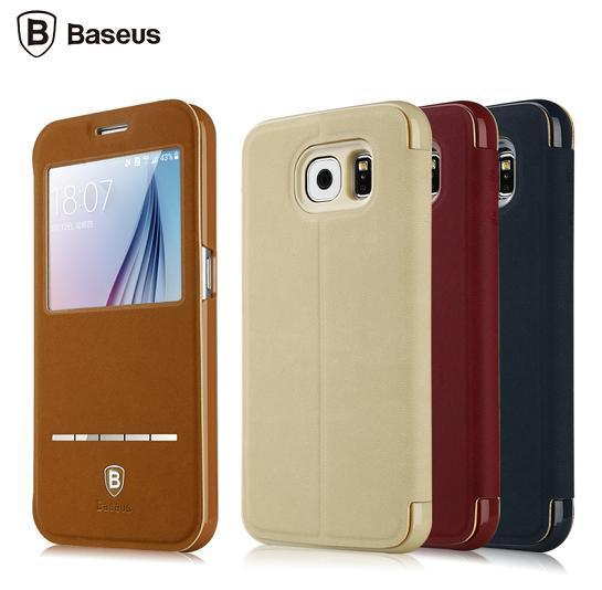 Baseus Samsung Galaxy S6 Terse Leather Case Cover Casing + Gift