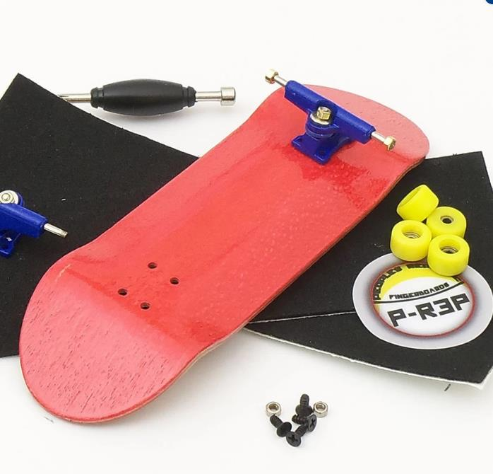 Basic Complete Wooden Fingerboard Finger Scooter with Bearing Grit Box