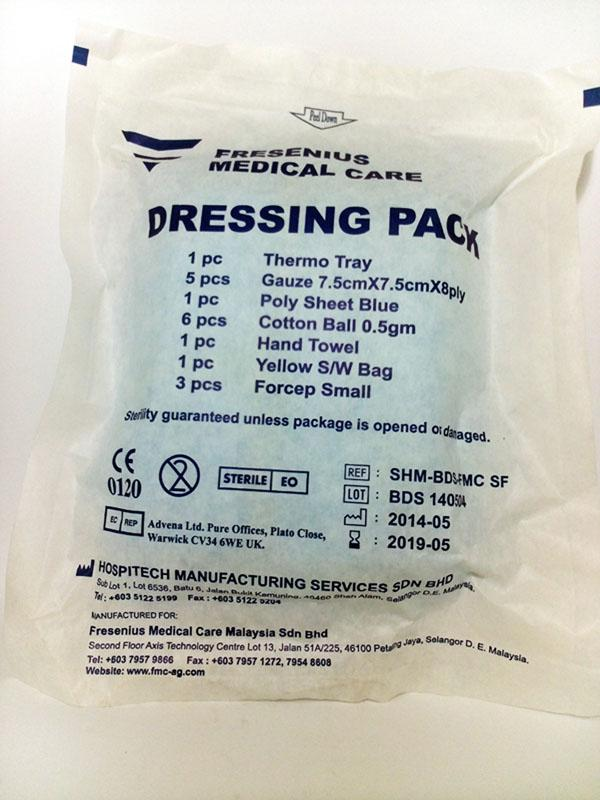 BASIC DRESSING SET (DRESSING PACK)CLEANING WOUNDS 2 sets