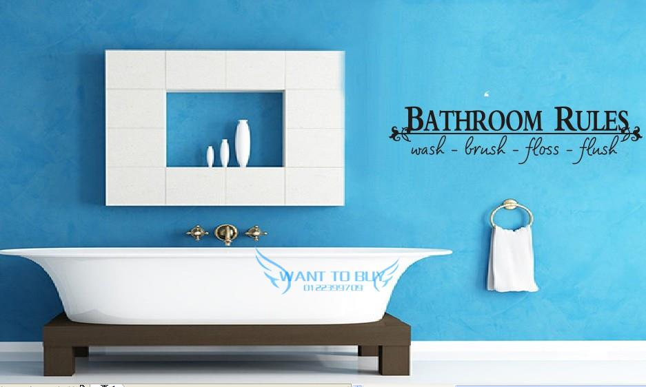 Bathroom Rules Vinyl Wall Stickers Q End 6 14 2018 5 15 Am