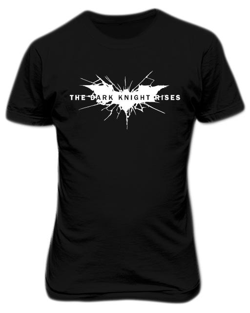 Batman Dark Knight Rises Black T-shirt White